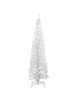 6ft. Pre Lit White Iridescent Tinsel Artificial Christmas Tree by National Tree Company