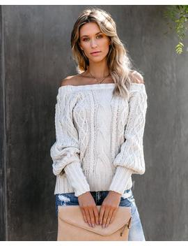 Humphrey Cable Knit Sweater   Light Taupe by Vici