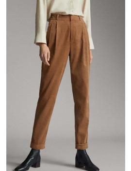 Mit Bundfalten   Trousers by Massimo Dutti