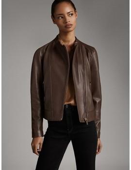 Nappa Zipped Jacket by Massimo Dutti
