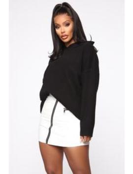 Say I'm Right Oversized Sweater   Black by Fashion Nova