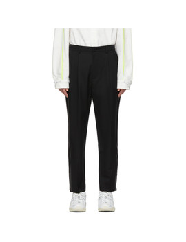 Pantalon à Plis Plats Noir Regular Fit Ascc Exclusif à Ssense by Ader Error