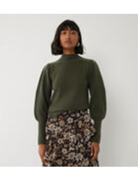 Puff Sleeve Stitch Jumper by Warehouse