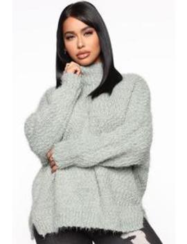 Forget What You Heard Sweater   Mint by Fashion Nova