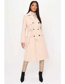 Stone Formal Wrap Coat by I Saw It First