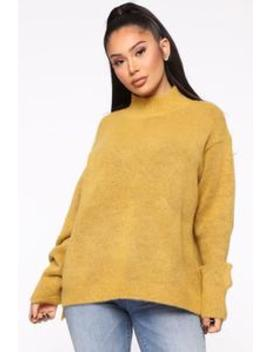 Too Close For Comfort Sweater   Mustard by Fashion Nova