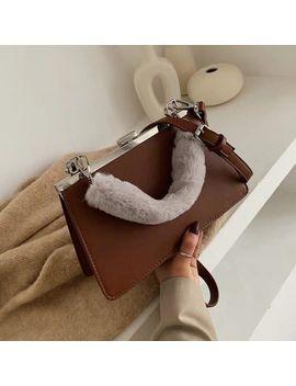 Vintage Fashion Female Plush Tote Bag 2019 New High Quality Pu Leather Women's Designer Handbag Lock Shoulder Messenger Bag by Ali Express.Com