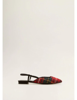 Tweed Slingback Shoes by Mango
