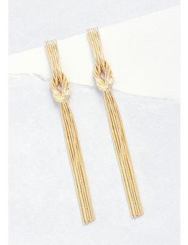 Forget Me Knot Duster Earrings by Modcloth