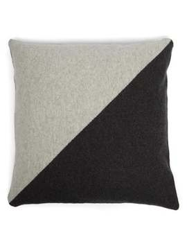 Diagonal Stripe Cashmere Cushion by Allude