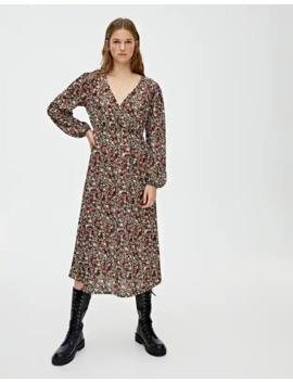 Robe Midi élastique Imprimé Floral by Pull & Bear