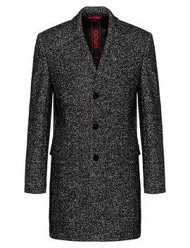 Slim Fit Mantel Mit Zweifarbiger Diagonaler Struktur Slim Fit Mantel Mit Zweifarbiger Diagonaler Struktur by Boss
