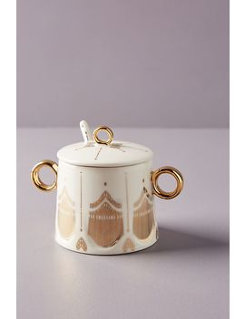 Michele Sugar Pot & Spoon by Anthropologie