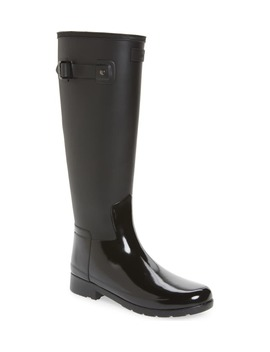 Refined Tall Matte Gloss Waterproof Rain Boot by Hunter