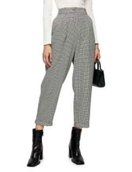 Martha Houndstooth Ovoid Trousers by Topshop