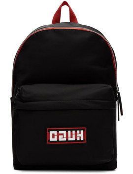 Black Record Backpack by Hugo