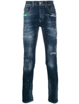 Distressed Detail Jeans by Frankie Morello