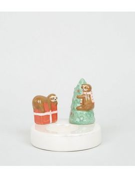 Multicoloured Christmas Sloth Candle Holder by New Look