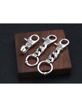 Sterling Silver Keychain, Gothic Punk Keychain by Etsy