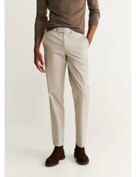 Regular Fit Cotton Chino Pants by Mango