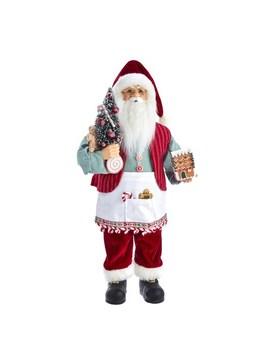 Kringle Klaus Santa With Gingerbread House by Kurt Adler