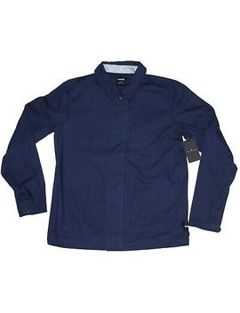 Hurley Frenchie Jacket Aj2619 Button Front Chore Coat Size L Navy Blue Nwt by Hurley