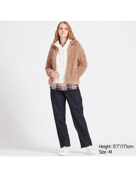 Women Fluffy Yarn Fleece Long Sleeve Full Zip Jacket by Uniqlo