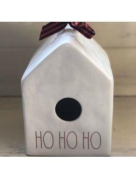 """Rae Dunn Artisan 2019 Christmas Birdhouse """"Ho Ho Ho"""" New Htf!! 🐦🎅🏼🤶🏻🎄 by Rae Dunn"""