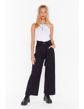 Whole Wide World O Ring Belted Pants by Nasty Gal