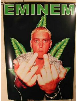 Eminem   Finger   Size : 64x90cm   Rare Poster Rolled by Ebay Seller