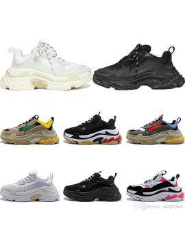 New Triple S Designer Shoes Sneakers For Men Platform Black White Gray Red Pink Women Mens Trainers Fashion Casual Dad Shoes Size 36 44 by D Hgate.Com