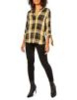 Self Tie Plaid Top by Dorothy Perkins