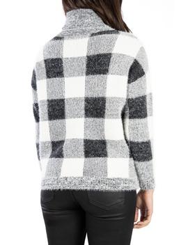 Evea Buffalo Plaid Turtleneck Sweater by Kut From The Kloth