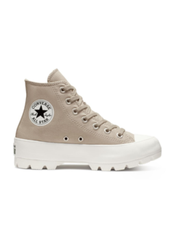 Converse Women's Chuck Taylor All Star Lugged Hi Sneakers, Papyrus/Papyrus/White by Converse