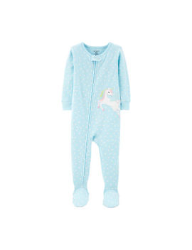 Carter's Girls Knit One Piece Pajama Long Sleeve by Carters