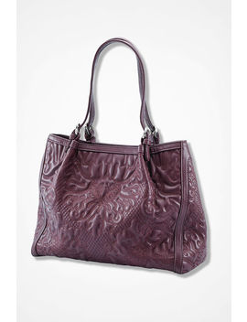 Passages Embossed Bag by Coldwater Creek