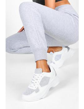Reflective Panels Chunky Sole Trainers by Boohoo