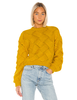 Amina Sweater In Yellow by Lovers + Friends