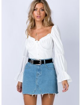 Hallie Denim Mini Skirt by Princess Polly