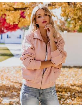 Back And Forth Cotton Pocketed Jacket   Dusty Pink by Vici
