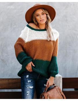 Polly Colorblock Knit Sweater by Vici