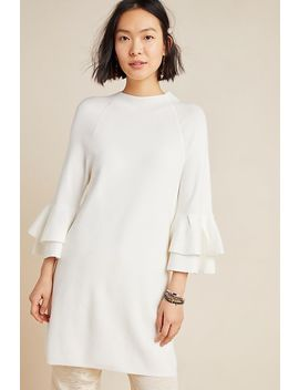 Claudette Ruffled Tunic Sweater by Anthropologie