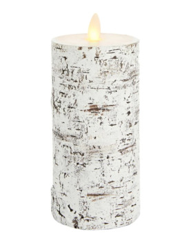 Hand Painted Birch Flameless Led Candle by Glucksteinhome