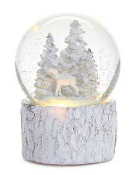 Winter's Eve Battery Operated Led Tree Design Water Globe by Glucksteinhome
