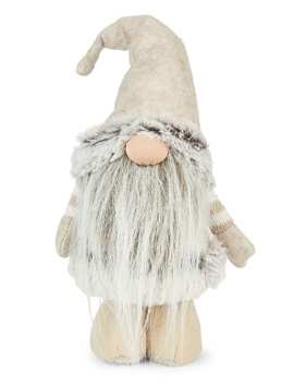 Merry & Bright Faux Fur Standing Gnome Figurine by Glucksteinhome