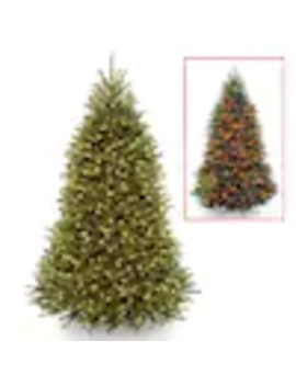 National Tree Company 7.5 Ft Pre Lit Dunhill Fir Artificial Christmas Tree With Power Connect by Lowe's