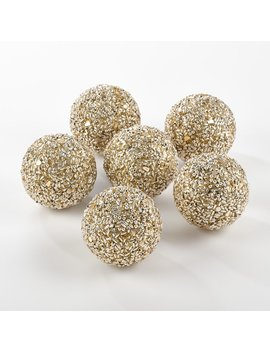 Gold Shapiro Decorative Balls by Wayfair
