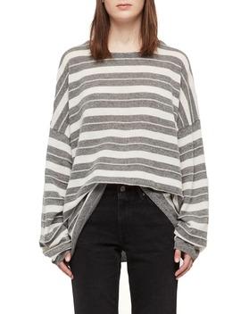 Cassia Stripe Boat Neck Sweater by Allsaints