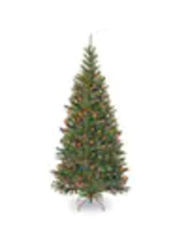 National Tree Company 6.5 Ft Pre Lit Aspen Spruce Tree by Lowe's