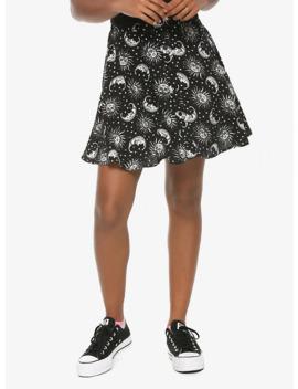 Black & White Celestial Skirt by Hot Topic